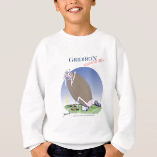 Gridiron kicked in the grass, tony fernandes sweatshirt