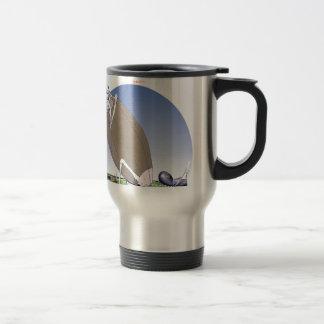 Gridiron - kicked in the grass, tony fernandes travel mug