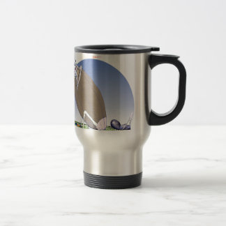 Gridiron kicked in the grass, tony fernandes travel mug