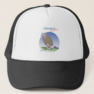 Gridiron kicked in the grass, tony fernandes trucker hat
