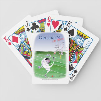 Gridiron  stay focused, tony fernandes bicycle playing cards