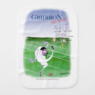 Gridiron  stay focused, tony fernandes burp cloth