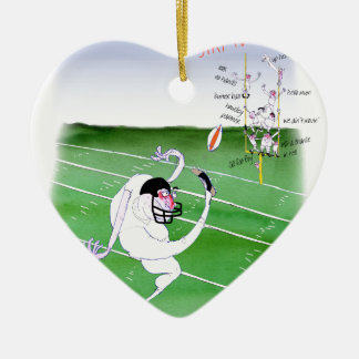 Gridiron  stay focused, tony fernandes ceramic ornament