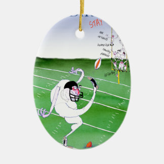 Gridiron - stay focused, tony fernandes ceramic ornament