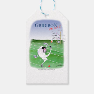 Gridiron  stay focused, tony fernandes gift tags