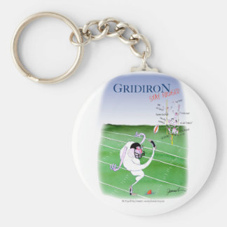 Gridiron  stay focused, tony fernandes keychain