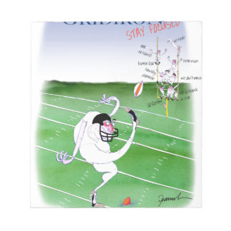 Gridiron  stay focused, tony fernandes notepad