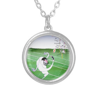 Gridiron  stay focused, tony fernandes silver plated necklace