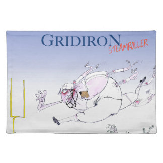 Gridiron steamroller, tony fernandes placemat
