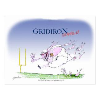 Gridiron - steamroller, tony fernandes postcard