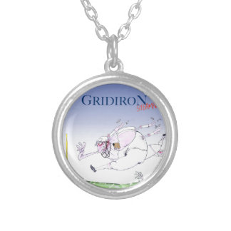 Gridiron - steamroller, tony fernandes silver plated necklace