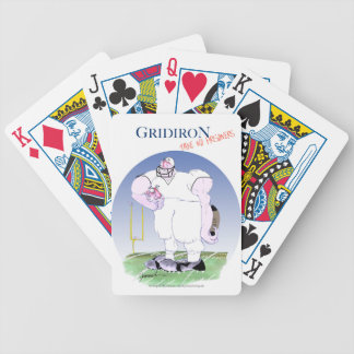 Gridiron - take no prisoners, tony fernandes bicycle playing cards