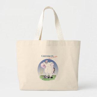 Gridiron - take no prisoners, tony fernandes large tote bag