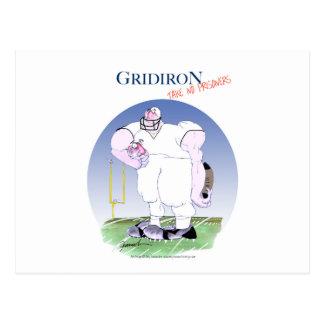 Gridiron take no prisoners, tony fernandes postcard