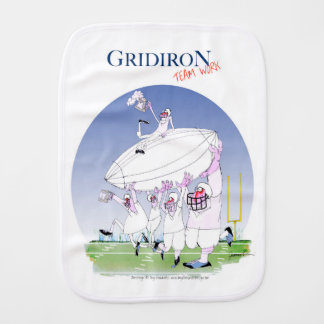 Gridiron teamwork, tony fernandes burp cloth