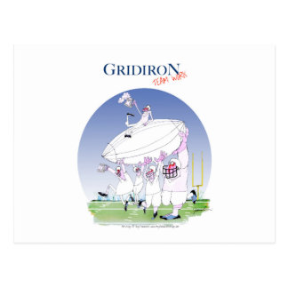 Gridiron teamwork, tony fernandes postcard