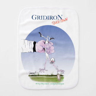 Gridiron -  touch down, tony fernandes burp cloth