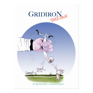 Gridiron touch down, tony fernandes postcard