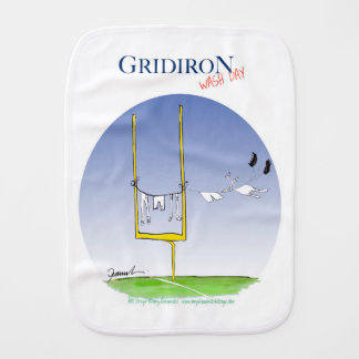 Gridiron wash day, tony fernandes burp cloth