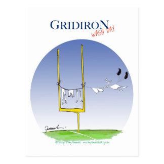 Gridiron wash day, tony fernandes postcard