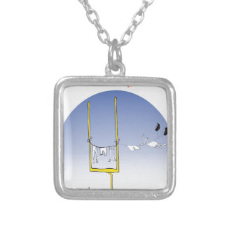 Gridiron wash day, tony fernandes silver plated necklace