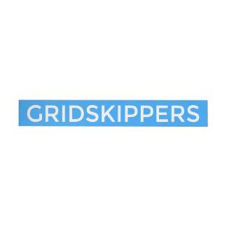 GRIDSKIPPERS Sticker Wraparound Address Label
