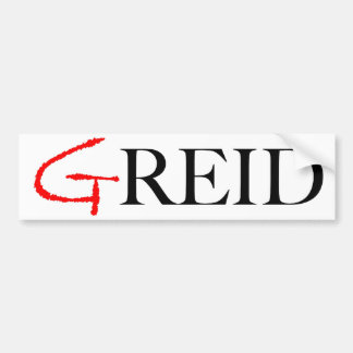 GRied-An Anti-Reid Bumper Sticker in White