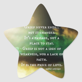 GRIEF never ends Star Sticker