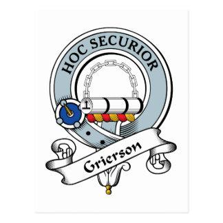 Grierson Clan Badge Postcard