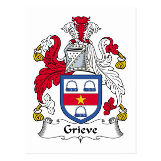 Grieve Family Crest Postcard