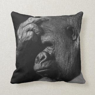Grieving Gorilla Throw Pillow