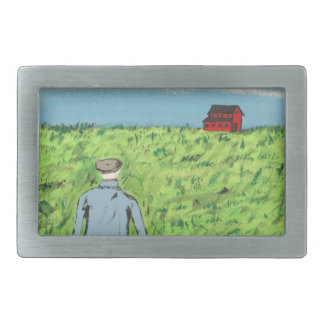 Griff and the Red Barn Belt Buckle