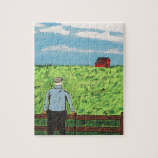 Griff and the Red Barn Jigsaw Puzzle