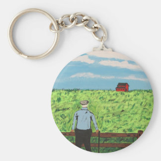 Griff and the Red Barn Keychain