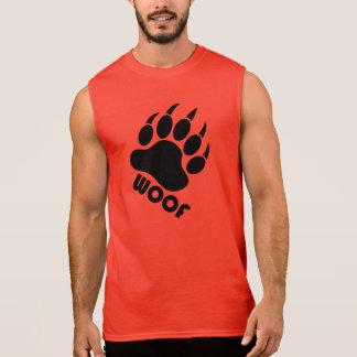 Griffe de fierté d'ours de Woof (noir) T-shirt Sans Manches