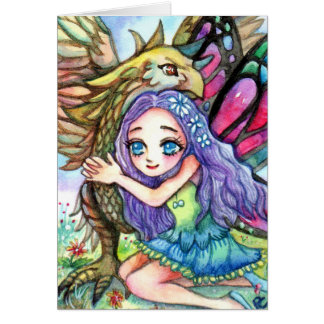 Griffin and Fairy Card