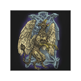 Griffin Crest Canvas Print