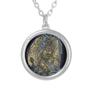 Griffin Crest Silver Plated Necklace