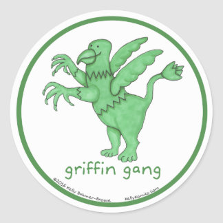 Griffin Gang round stickers