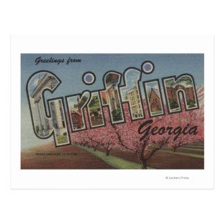Griffin, Georgia - Large Letter Scenes Postcard