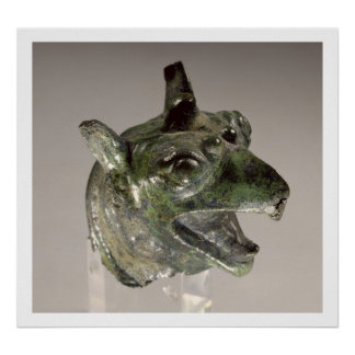 Griffin head, fragment of a cauldron attachment, f poster
