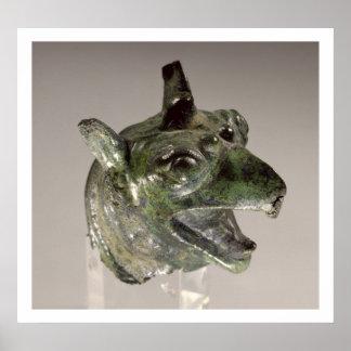 Griffin head, fragment of a cauldron attachment, f print