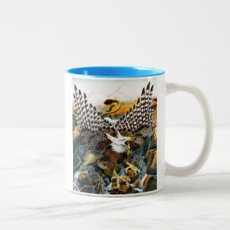 Griffin in Waterfall Two-Tone Coffee Mug