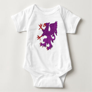 Griffin Rampant Purpure Baby Bodysuit