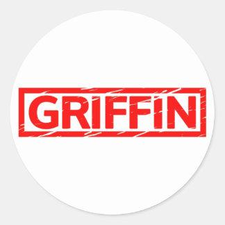 Griffin Stamp Classic Round Sticker