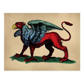 Griffin Vintage Illustration Postcard