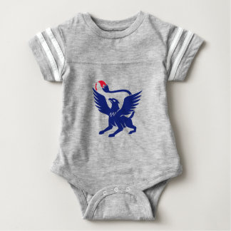 Griffin with Paintbrush Tail Icon Baby Bodysuit