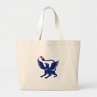 Griffin with Paintbrush Tail Icon Large Tote Bag