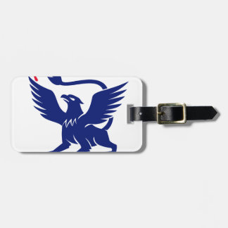 Griffin with Paintbrush Tail Icon Luggage Tag