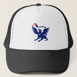 Griffin with Paintbrush Tail Icon Trucker Hat